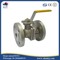 Quality 2 Pcs Flange Type Stainless Steel Ball Valve for hot water WCB DN50 PN16 ANSI DIN for sale