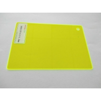 Quality Rectangular Fluorescent Green Helmet Polycarbonate Sheet for sale