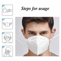 Buy cheap 5 Layer EarLoop Non Woven Dustproof KN95 Face Mask product