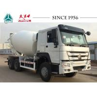 China HOWO Truck Mounted Concrete Mixers , Ready Mix Cement Trucks 8 CBM Capacity on sale