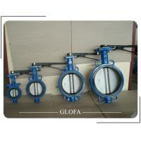 Quality WAFER CAST IRON GG25 CONCENTRIC EPDM RUBBER LINED BUTTERFLY VALVE for sale
