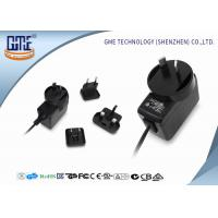 China Interchangeable Type 12V  Power Adapter 500ma UL FCC GS CE RCM Approved Adapter wholesale