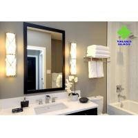 Buy cheap Square Shaped Contemporary Silver Wall Mirror Long Service Life Ultra Clear Glass Material product