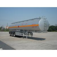 Buy cheap 46000L Aluminum Alloy 3 Axles Diesel Oil Tank Trailer , Light Gasoline Trailer product