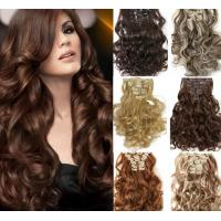 China 100% Unprocessed Brown Clip In Hair Extension Real Indian Virgin Hair on sale