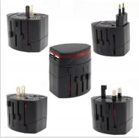 Buy cheap 5V 1A / 5V 2.1A Universal Power Adapter Travel Black AC Wall Mount Charger from wholesalers