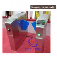 Buy cheap Passage optical Flap Barrier Gate , bi directional Bus half height turnstile sound Alarm product