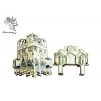 Buy cheap Customized Virgin Plastic Casket Corners Pale Golden American Style With Cathedral product