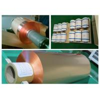 Buy cheap 35um FCCL Copper Sheet Roll , 1oz Thickness 300mm Width Copper Foil Sheet product