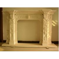Buy cheap carving man statue stone fireplace product