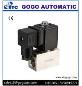China 200 Bar High Pressure Solenoid Valve , Stainless Steel Solenoid Valves Air / Water on sale