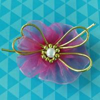 Buy cheap Cute Purple Baby Flower Girl Hair Accessories , Hair Ribbons For Toddlers product