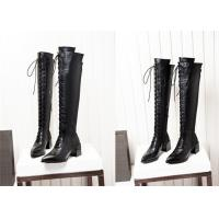 Buy cheap Long Lace Up Knee Length Boots Thick Middle Heel Spring Autumn Winter Available product