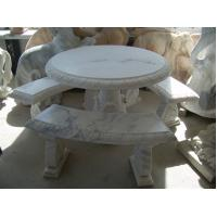 Buy cheap Outdoor Garden Natural Marble Stone Bench statue product