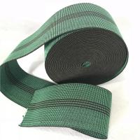Buy cheap Durable Synthetic Rubber Elastic Webbing For Sofa In Green Color 6cm 460B# product
