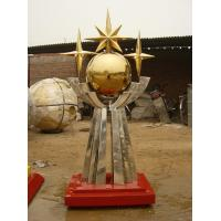 Buy cheap 6 meter height city stainless steel sculpture product
