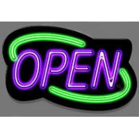 Buy cheap Bright Green LED Open Sign Square Shape With 4 Display Modes For Coffee Shop Sign product