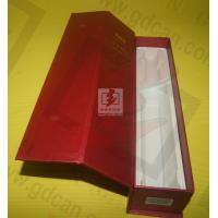 Buy cheap Wine Recycled Paper Gift Boxe Packaging Red With Matt Lamination product