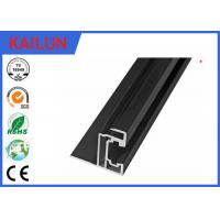Quality Solar Panel Black Aluminium Frame With Corner Key , Extrusion Aluminium Edge for sale
