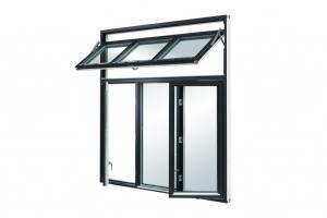 Buy cheap ODM Aluminium Swing Window Matt Black With Fiberglass Flyscreen product