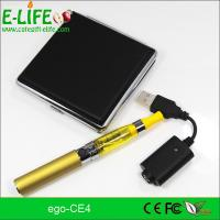 Buy cheap eGo CE4 Single Starter Kits with metal box package potable electronic cigarette product