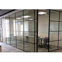 Buy cheap ISO Modern Half Height Glass Cubicle Dividers  , Boss Office Partition Wall product