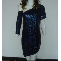 Buy cheap Navy Bling Bling Sequin Club Dresses , Classy Club Evening Dresses Lightweight product