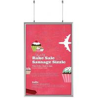 China Double Sided Snap Frame Aluminum Finish Poster Frame Displays for advertising A3 size sign wholesale