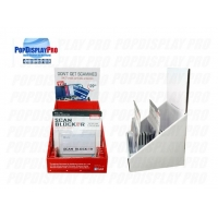 Buy cheap Paper Cardboard Counter Display for Credit Card Scan Blocker  with 12 Slots 4C/0 Printed in Red product