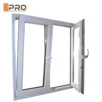 Buy cheap Anti - Aging Dark Grey Tilt And Turn Aluminum Windows With Mosquito Net product