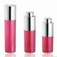 Buy cheap Cosmetic Airless Bottles for Skin Care Cream, Various Colors are Available, OEM Orders are Welcome product