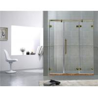 China Green Bronze Inline Frameless Glass Shower Doors 8MM Tempered Glass For Home on sale