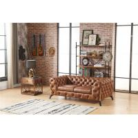 Stupendous Home Furniture Tan Brown Soft Genuine Leather Sofa Set With Pabps2019 Chair Design Images Pabps2019Com