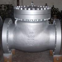 Buy cheap ANSI 600LB RF Industrial Flanged Check Valve , Carbon Steel Swing Type Check Valve product