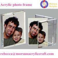 Buy cheap Transparent double side customized acrylic magnetic photo frame stand product