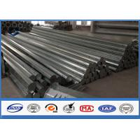 HDG Galvanized Steel Pole 3.5m ~ 15m Height Options galvanized metal tubing