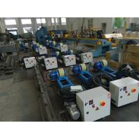 Buy cheap 2T Capacity Bolt Adjustment Pipe Welding Rollers with Polyurethane Rollers Gear Reducer product