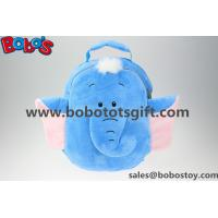 """Quality 11.8""""The Blue Elephant Cartoon Children's Shoulders Plush Backpacks Bos-1228 for sale"""