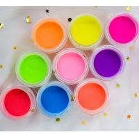 Buy cheap Clear pink Nail art designs Neon color glitter powder 16 colors dipping neon color powder product