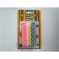 Mixed Color Spiral Birthday Candles Swirl Pattern 0.75×8.5 cm for Birthday Party