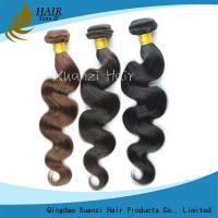 China Natural Remy Clip In Hair Extensions 100G , Body Wave Virgin Indian Remy Hair on sale