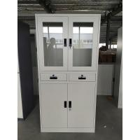 Buy cheap Multi-Functional middle two drawer Office Used Steel Storage Cupboard file Cabinet light gray product