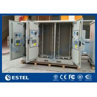 Three Compartments Outdoor Street Cabinets Telecoms For Base Station / 4G System