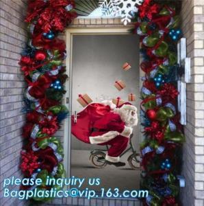 Buy cheap indoor & outdoor door poster PE plastic window cover for halloween christmas decoration,Door Poster Christmas Gift Decor product