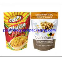 Buy cheap Aluminium foil pouch, stand up pack pouch for snack, foil zipper doypack for food packaging product