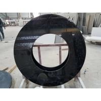 Buy cheap Black Nero Marquina round table countertops marble table tops SGS Certification product