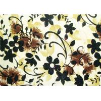 Buy cheap Beautiful Floral Flocked Fabric , Mattress / Toy / Clothes Fabrics product