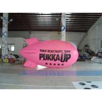 Buy cheap Inflatable Advertising Helium Zeppelin , Openning Events Pink PVC Inflatables product
