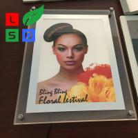 Quality Outside Ultra Slim Crystal Led Light Box Display LED Photo Frame For Shopping Mall for sale