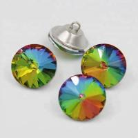 Buy cheap Colorful Shiny Crystal Rhinestone Buttons Iron Material For KTV Sofa product